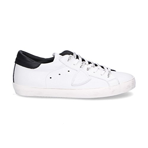 Philippe Model Mens Shoes - Philippe Model Men's Clluv003 White Leather Sneakers