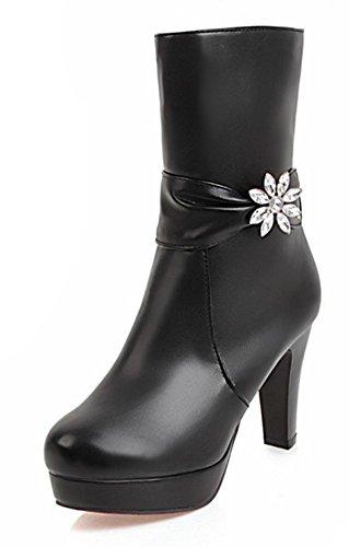 Bottines Aisun Chic Strass De Noir Mariage Qfbrxqa Chaussures Femme qSt6TrSna