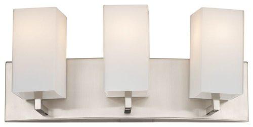 Forecast Lighting F451636 Avenue 3 Light Bath, Satin Nickel -