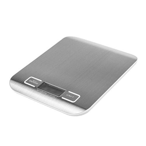 Scale Digital Weight 11lbs x 0.05 oz Grams Pounds Fat For Kitchen Stainless Steel 5Kg x 1g Food / Postal
