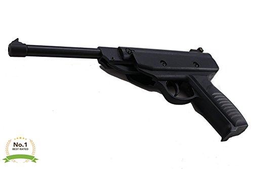LavoHome WWll Air Pistol 5.5mm Single Shot Air Rifle 22 Caliber Premium Black Metal Hunting Air BB Gun