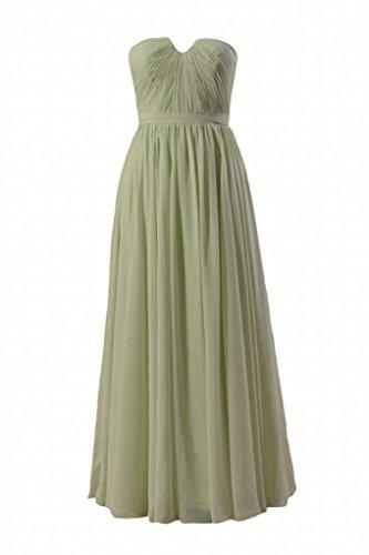 Daisyformals Longue Robe De Demoiselle D'honneur En Mousseline De Soie Sans Bretelles Avec / Inséré Encolure V (bm10823l) # 33 Thé Vert