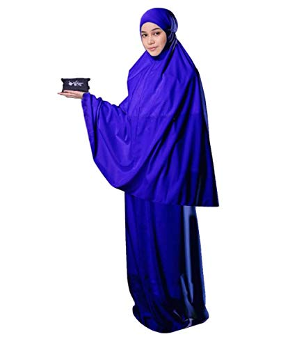 (Muslim Women's Prayer Dress Pocket-Size Hijab Scarf Skirt Islamic Abaya by AJAR)