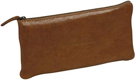 Clairefontaine 106513C Flying Spirit - Estuche plano (22 x 11 cm), color marrón: Amazon.es: Oficina y papelería