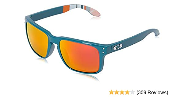 Amazon.com  Oakley Men s Holbrook Non-Polarized Iridium Square Sunglasses,  Aero Baslam, 57.0 mm  Clothing b48af6d922