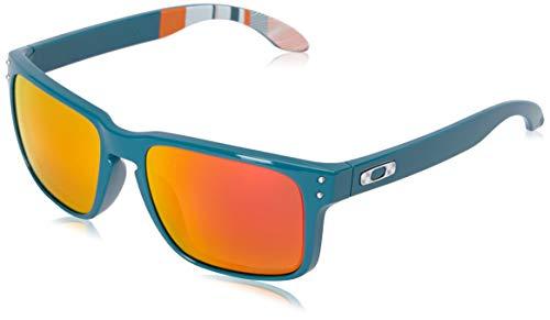 Oakley mens Holbrook OO9102-52 Iridium Polarized Sport Sunglasses,Matte Black/Ice,57 mm