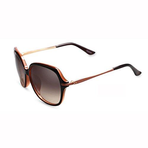 De Piernas Sol Tea Caja WX Redonda Grande Delgadas UV Gafas Hembra Anti Manejar Moda Cara Gafas Blanco Color xin Elegante 4FxvxtE