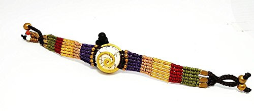 sawasdee Charm Bracelet for Women or Men Braided Wrist Cuff, Adjustable 8.0 inches