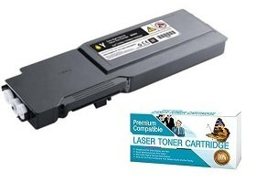 Ink Now! Dell Compatible C3760 Series Yellow Toner Cartridge for C3760, C3760dn, C3760n, C3765, C3765dnf Printers