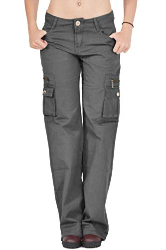 427f5ea24ff70 HSRKB Womens Cargo Pants High Waisted Loose Fit Pant with Muti Pockets