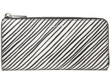 Bleecker Canvas - COACH Bleecker Coated Canvas Slim Zip Checkbook Wallet Silver/White Multicolor One Size