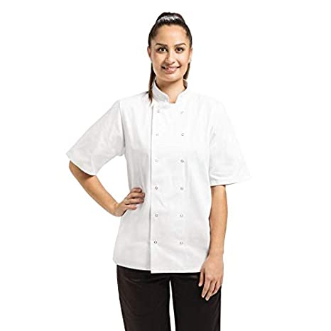 Whites Chefs Apparel a211-xs Whites Vegas Chefs Jacket, manica corta, XS Nisbets