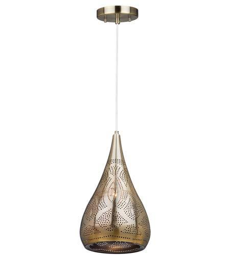 Artcraft Lighting CL15101 Starstruck 1 Light 9 inch Vintage Brass Pendant Ceiling Light