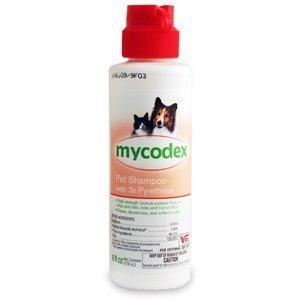 Pet Shampoo Mycodex (Mycodex 3X Pyrethrins Pet Shampoo 6 oz)