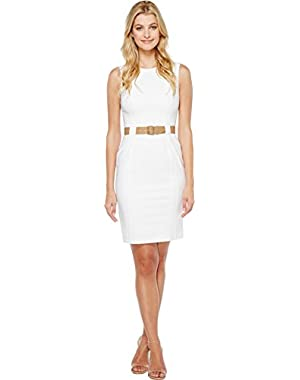 Calvin Klein Womens Belted Sheath Dress CD7G209B