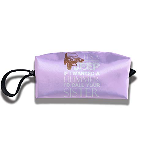 Its A Jeep If I Wanted A Hummer ID Call Your Siste Makeup Bag Cosmetic Portable ()