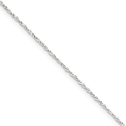Twisted Serpentine Chain (1mm, Sterling Silver, Twisted Serpentine Chain, 24)