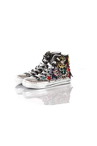 lowest price f78ac 3645d Amazon.com | MOVIE'S Sneakers Donna 36 Nero/Argento F13-05b1 ...