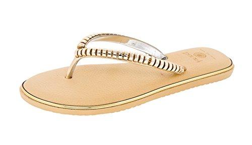 Beaute Fashion Ondulations Femmes Confort Flip Flop Sandale Thong # 1 Extra Confortable Extra Amorti Beige