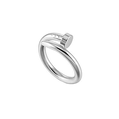 Amazon.com: Sunny&Lucky – 2 anillos ajustables de acero ...