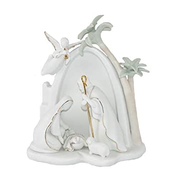 Appletree Design Bethlehem Holy Family Nativity, Lighted, 7-1 2-Inch Tall, Includes Light Bulb and Cord