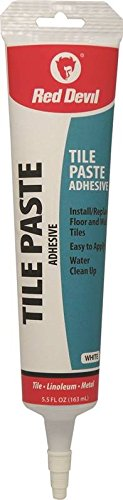 Red Devil 0497 Tile Paste Adhesive Squeeze Tube, White