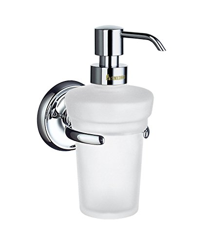 Smedbo SME_K269 Soap Dispenser Wall mount, Polished Chrome - Smedbo Glass Wall Soap Dispenser