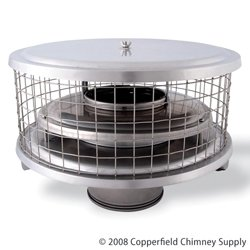 Chimney 11425 10 in. HomeSaver Pro Cap For Air-insulated Factory-Built -