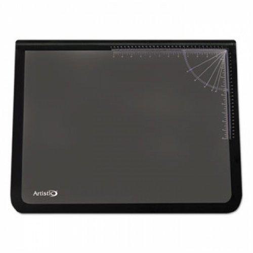 Logo Pad Desktop Organizer with Clear Overlay, 24 x 19, Black