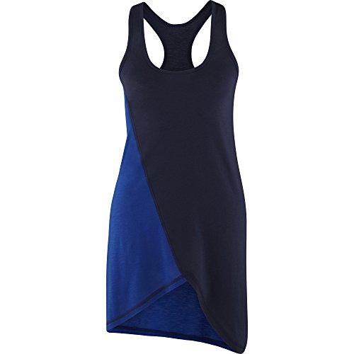 Zumba Fitness Two-Tone Asymmetrical - Camiseta para mujer, color gris, talla XS Azul
