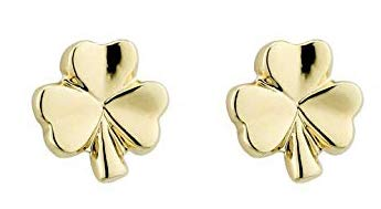 aecc83015 Image Unavailable. Image not available for. Color: Biddy Murphy Small  Shamrock Earrings Gold Plated Studs ...