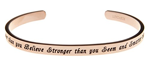 "Kendasun Jewelry ""You are Braver than you Believe Stronger t"