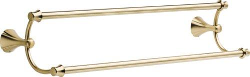 Delta Faucet 79225-CZ Addison 24inch Double Towel Bar Rack,