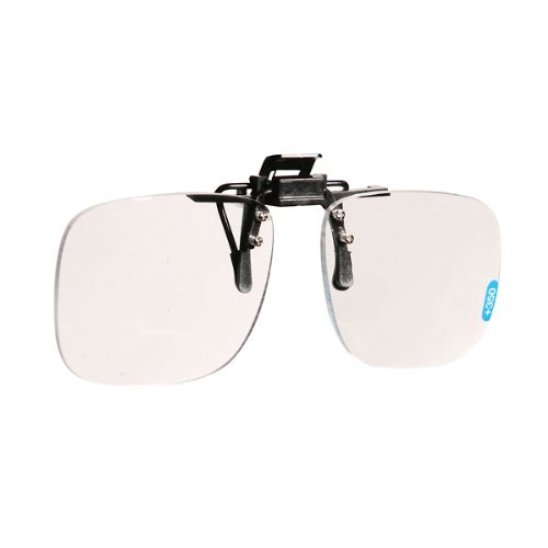 4 Optical Frame (Vision USA CF4.0 Clip-On Magnifier, Large frame, 4x magnification)