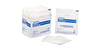"""1806 Sponge Curity 2's Gauze Sterile Cotton 2x2"""" 8ply 100 Per Pack Part No. 1806 by- Kendall Company"""