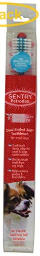 Sentry Industries Inc. Petrodex Dental Kit for Adult Dogs - Poultry Fresh Mint Flavor 2.5 oz Toothpaste - 8.25'' Brush - Finger Brush - Pack of 3 by Sentry Industries Inc.