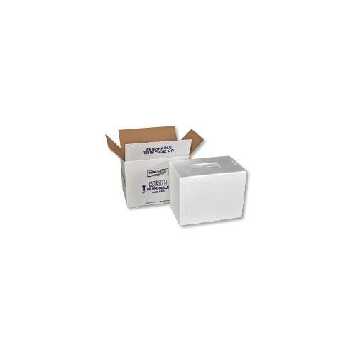 Polar Tech Thermo Chill 261/J50C Large Insulated Foam Container with Carton, Interior Dimensions 19 x 12 x 12.5 inches (L x W x D)