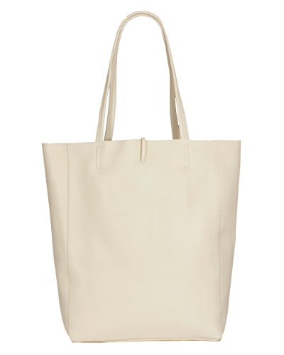 Soft Tote Montte Leather Buttery Women Shoulder 100 Jinne Cream Di Large Gift Bag Real Italian for rppv8wH