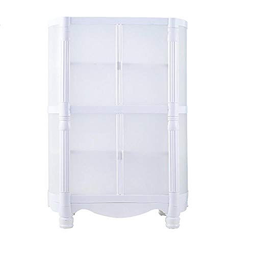 Multifunctional ABS Assembly Locker Simple Wardrobe Children's Storage Cabinet Plastic Storage Cabinet Free Combination (Color : 2-Tier)