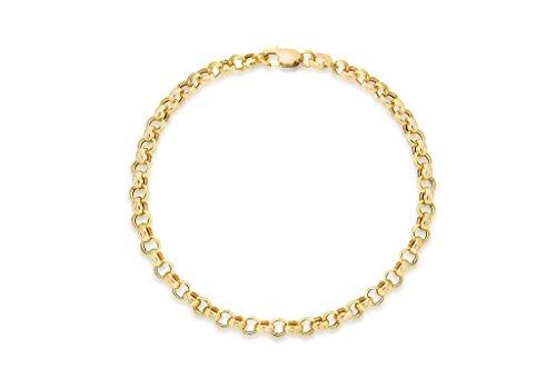 9 ct Jaune Or Bracelet creux 18 cm
