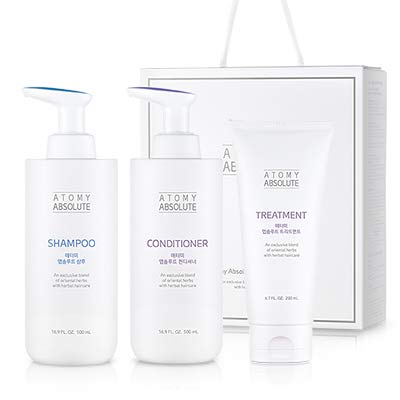 [ATOMY] absolute hair care set   an exclusive blend of oriental herbs with herbal haircare