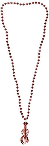 Forum Novelties Crawfish/Lobster Beads (12 - Beads Gras Mardi Crawfish