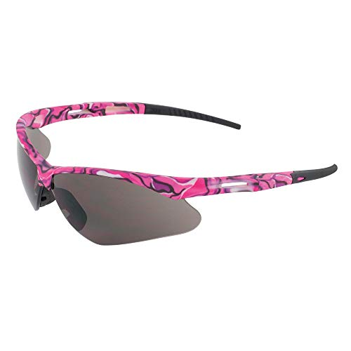 Erb Safety Glasses - ERB Safety Products 15341 Annie Safety Glasses, Pink Camo Frame, Clear Lens, 6