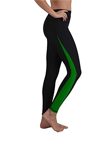 Cold Leggings - Scodi Women's Surfing Leggings Swimming Tights (L, Green)