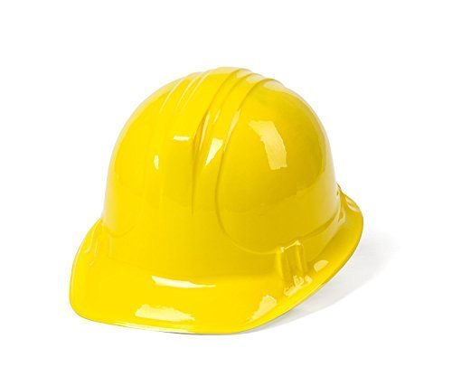 dazzling toys 6 Pack Construction Hats | Building Supplies Yellow Construction Hat | Accessory for kids Building Projects | Pack of 6