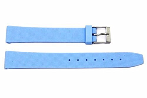 12mm Light Blue Rubber Watch Strap for Ladies