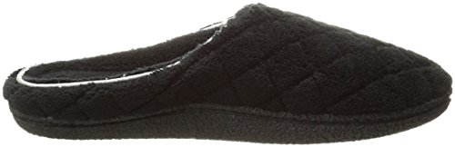 Slipper Clog ONS Black Mule with Dearfoams Rubber Resistant Women's Padded Slip Quilted Terry Outsole Skid 6Zx6X8qt
