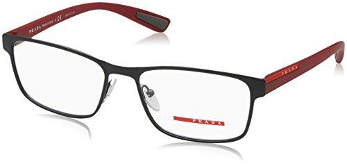 Prada Linea Rossa Montures de lunettes 50G Pour Homme Black Rubber, 53mm TFZ-1O1: Grey Rubber