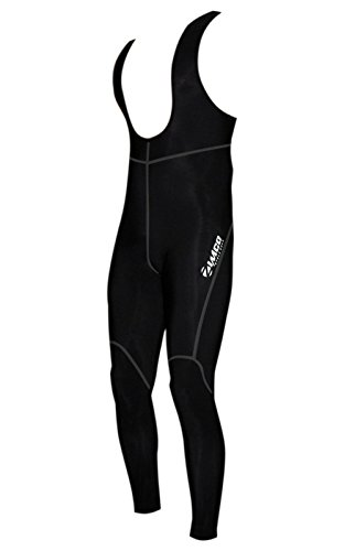(Zimco Pro Cycling Bib Tight Super Roubaix Thermal Non-Padded Bib Pant Gray Seams (2XL))