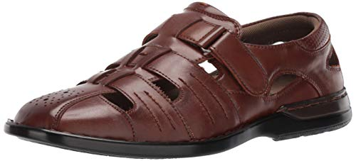Stacy Adams Men's Argosy Closed-Toe Fisherman Sandal, cognac 14 M US